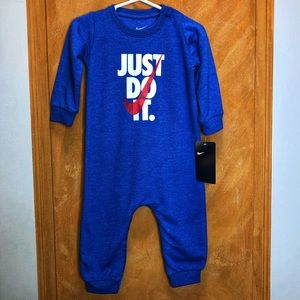 Nike Blue Just Do It One Piece Size 9 Months